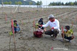 Tanam manggrove dalam rangka HUT RI
