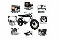 Anza Monday Motorbikes, sepeda listrik berdesain unik