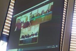 PN Denpasar lanjutkan persidangan meski Jerinx keluar ruangan