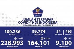 Positif COVID-19 di Indonesia bertambah 3.963 orang, sembuh 3.036 orang