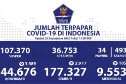 Positif COVID-19 di Indonesia bertambah 3.989 dan 105 meninggal