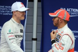 Data antara Lewis Hamilton vs Michael Schumacher di ajang grand prix Formula 1