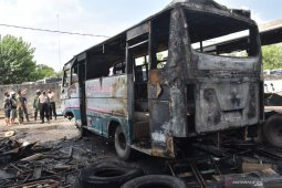 Kebakaan Garasi Bus di Madiun