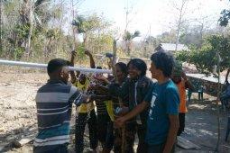 Berkat pompa air tenaga surya Len, warga desa Rabeka tak kesulitan air bersih lagi