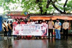 Jurnalis Televisi di  Malut sosialisasi 3 M dan bagikan 1.000 masker gratis