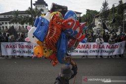 Unjuk rasa bela Nabi di Bandung