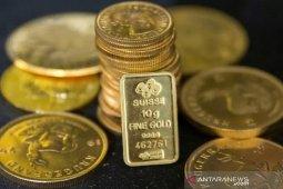 Harga emas melonjak saat dolar tertekan prospek stimulus