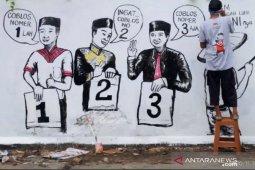 KPU Samarinda gelar lomba mural sebagai ajang sosialisasi kaum milenial