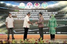 Menpora serahkan SK penetapan Aceh-Sumut sebagai tuan rumah PON 2024