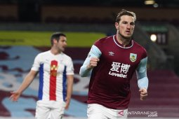 Burnley petik kemenangan perdana setelah atasi Crystal Palace