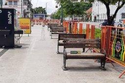Pedestrian Titik Nol Kilometer Yogyakarta steril dari wisatawan