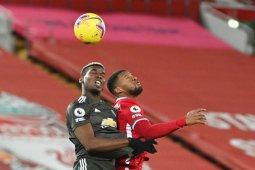 MU tetap di puncak usai imbang 0-0 lawan Liverpool