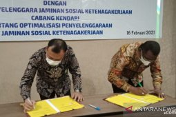 BPJAMSOSTEK- Buton Tengah teken kesepahaman jaminan sosial ketenagakerjaan