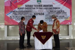 Plh Bupati Lampung Tengah pimpin pisah sambut Bupati dan Wakil Bupati Periode 2016-2021