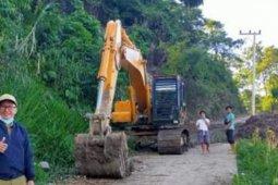 Akses Jalan Temerimbi mulai terbuka setelah gempa Majene