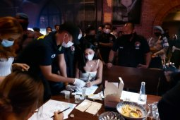 Selebgram Millen Cyrus terjaring razia prokes Polda Metro Jaya