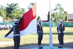 Kasipers Skuadron-12/Serbu pimpin upacara bulanan Pemkab Pesisir Barat
