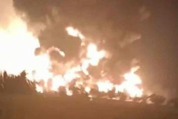 Kilang minyak Pertamina Balongan Indramayu terbakar