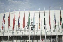 110 bendera dipasang di Gedung Merdeka Bandung untuk peringati 66 tahun KAA