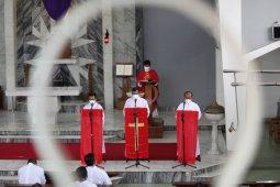 Ibadah Jumat Agung sejumlah gereja di Bandarlampung berjalan khidmat