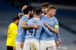 Manchester City menangkan leg pertama kontra Dortmund 2-1