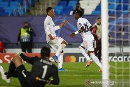 Dua gol Vinicius Junior bawa Real Madrid tekuk Liverpool 3-1