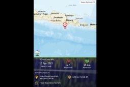 Gempa magnitudo 6,7 di barat daya Malang