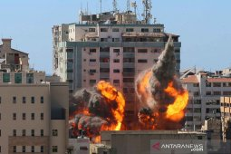 Israel gempur kompleks menara Gaza kantor berita AP dan Al Jazeera