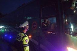 Gerbang Tol Trans Sumatera Simpang Pematang Mesuji ramai lancar