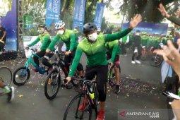 Sandi ikut gowes Yogyakarta-Borobudur