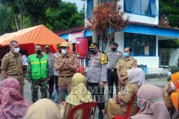 "Bupati Lampung Barat tinjau ""lapak"" vaksinasi COVID-19"