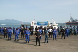 Kanwil DJBC Sumatera Bagian Barat-Polairud-KSOP Panjang kerja sama pengamanan perairan wilayah Lampung
