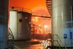 Pertamina masih berupaya mengendalikan kebakaran di Kilang Cilacap