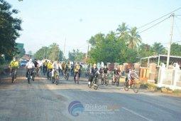 Bupati Lampung Tengah gowes bersama Gubernur Lampung untuk jaga imun tubuh