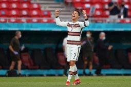 Keraguan terhadap Cristiano Ronaldo pun sirna, inilah rekor yang ditorehkannya di Euro 2020