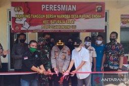 Kapolres OKU resmikan Kampung Tangguh Bersih  Narkoba