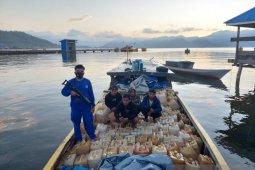 Polairud amankan 11 ton minyak tanah bersubsidi ilegal di Morut