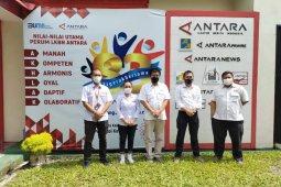 PT HK ruas Bakter lakukan kunjungan ke LKBN ANTARA Lampung