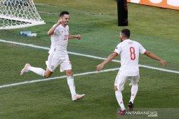Spanyol kalahkan Slovakia 5-0 menuju babak 16 besar