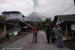 Sejumlah wilayah Sleman dilanda hujan abu usai guguran awan panas Merapi