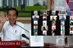 Presiden Jokowi: Anak-anak tetap semangat belajar meski tidak di sekolah