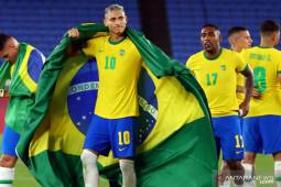 Brazil raih emas Olimpiade 2020 usai kalahkan Spanyol 2-1