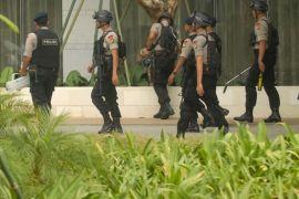 Tas mencurigakan tergeletak di halaman Hotel Indonesia Kempinski
