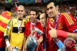 Spanyol sambut pahlawan euro 2012 dengan pesta