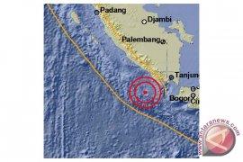 Gempa magnitudo 4,3 mengguncang Liwa Lampung Barat