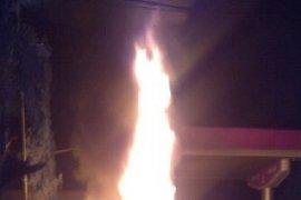 Polisi: Oplet Terbakar di SPBU Pontura Kecelakaan