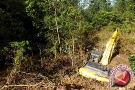 Forestry secures illegal mining heavy equipment