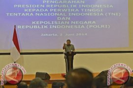 Presiden Ingatkan TNI-Polri Akan Benih Subordinasi