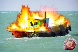 Kapal Tanker Diduga Terbakar di Bangka Selatan