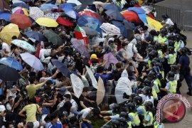 Aksi protes di Hong Kong mereda